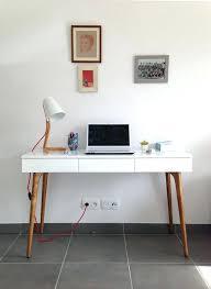 bureau bois blanc console bureau vintage bois et blanc meetharry co