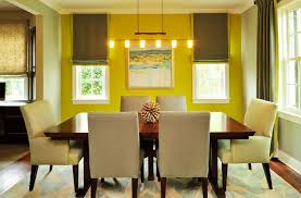 Yellow Dining Room Ideas Charming Bright Yellow Wall Paint Color For Dining Room Complete