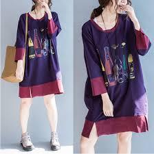 purple blouse plus size purple bottle design plus size t shirt cotton blouse