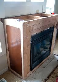 modern floating mantel in mantel alex slarve in reclaimed wood