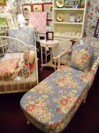 Shabby Chic Chaise Lounge by Florals Are Huge In Decor This Season