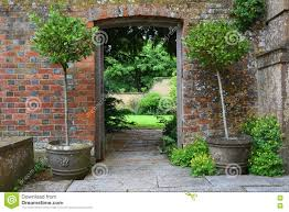 Somerset England Map Gateway In Wall Tintinhull Garden Somerset England Uk Stock