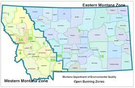 Montana County Map by Montana Deq U003e Air U003e Airquality U003e Burnrestrictions