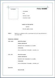 ideas of simple resume sample doc with format layout gallery