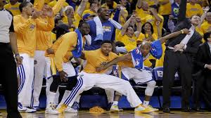 basketball bench celebrations dub nation are you ready golden state warriors are ready to