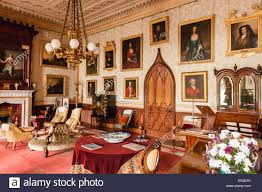 the drawing room in an old english country house stock photo