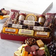Cheese And Sausage Gift Baskets Party Planner Gift Box Gift Purchase Our Gourmet Sausage