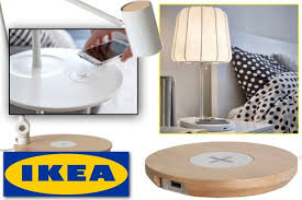 ikea embeds wireless charging technology into lamps tables and