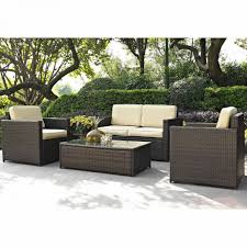 Wicker Patio Table Set Plain Wicker Patio Furniture Set Sonoma Throughout Design Ideas