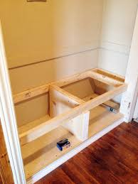 Diy Storage Bench Plans by Diy Closet Bench Decor Pinterest Closet Bench Front