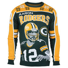 aaron rodgers 12 green bay packers nfl player sweater