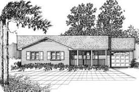 ranch style house plan 3 beds 1 50 baths 1055 sq ft plan 30 106