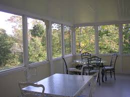 our quiet screened back porch has perfect ambience gatherings