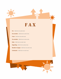 fax cover sheet template for word 2007 or newer inside fax samples