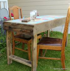 reclaimed wood game table beyond the picket fence vintage game table
