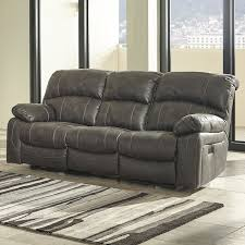 dunwell power recliner loveseat with adjective headrest in steel