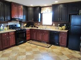 Two Tone Kitchen by Kitchen Paint Two Tone Kitchen Cabinets With Kitchen Valance And