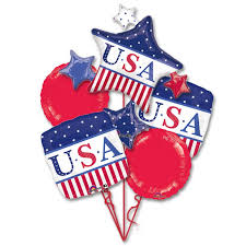 balloon bouquet nyc american classic patriotic mylar balloon bouquet inflated