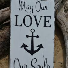 Hand Painted Love Anchors The - wedding personalized in high tide or from signs of love