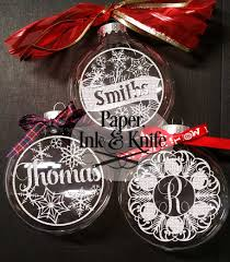 ornaments set of 10 customizable papercut template