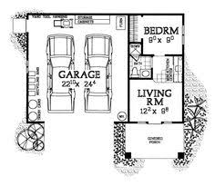 garage floor plan house with 3 car garage and in apartment multi