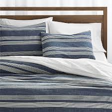 Cb2 Duvet Monterey Blue Duvet Covers And Pillow Shams Crate And Barrel