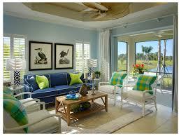 florida house recessed ceiling living room tropical blue light
