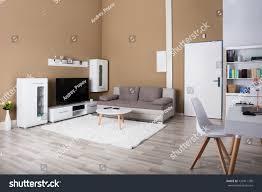 contemporary living rooms interior contemporary living room tv sofa stock photo 720411790
