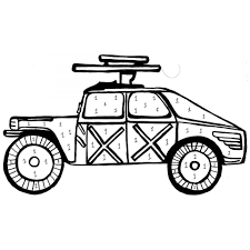 printable army armored car coloring sheet for boys