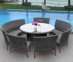 7 Piece Round Patio Dining Set - round patio dining sets pgr home design