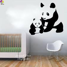 Panda Nursery Decor by Tienda Online Mamá Y Bebé Panda De Dibujos Animados Etiqueta De La