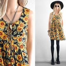 90s dress shop 90s sunflower dress on wanelo