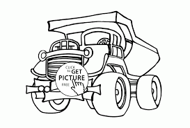 cool big dump truck coloring page for kids transportation