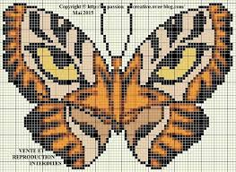 butterfly tiger aunties butterfly perler