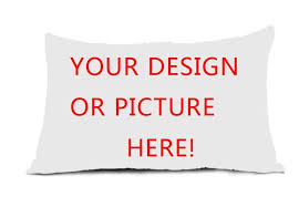 design your own pillowcase new personalized custom logo design your own photo rectangle
