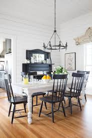 mix and match dining chairs and bench with harvest table dining