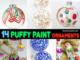 14 ways to make the perfect puffy paint ornament ilovetocreate