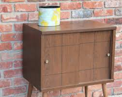 Mid Century Record Cabinet by Mid Century Tv Stand Etsy