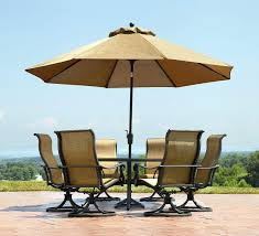 umbrella table and chairs outdoor dining furniture with umbrella panama jack island cove patio
