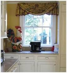 Kitchen Window Curtain Ideas by French Country Valance Roosters Chickens Window Treatment