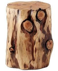 Tree Stump Side Table Tree Stump Side Table Decorist
