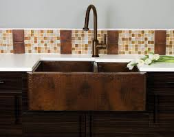 copper kitchen sink faucets kitchen look so with wooden cabinets and apron copper