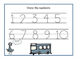 Abc Practice Worksheets For Kindergarten Number Trace Worksheets For Kid U0027s Tracing Fun Kids Activity