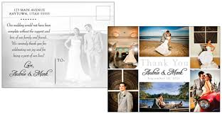 wedding thank you postcards clever picture thank you wedding postcards and photos placements