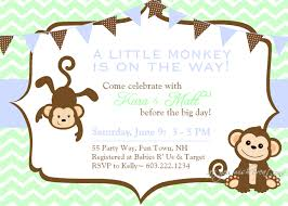 baby shower monkey monkey baby shower invitations cloveranddot
