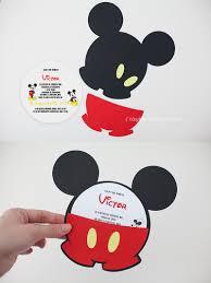 Mickey Mouse Invitation Cards Invitatii Mickey Mouse Invitatii Botez Handmade Mickey Nice