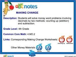 making change by counting up smartboard money activities