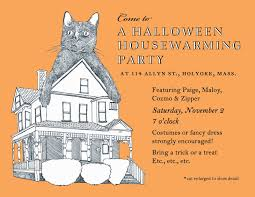halloween housewarming party invitation wordings u2013 fun for halloween