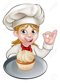 chef cuisine femme a chef or baker character holding a plate with