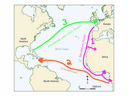 Triangular Trade Map The Middle Passage 1600 1800 Thinglink